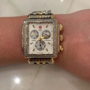 Michele XL deco watch